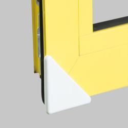 reer Eckenschutz, für Fenster, Kunststoff Kantenschutz schützt vor spitzen Ecken, Farbe: weiß