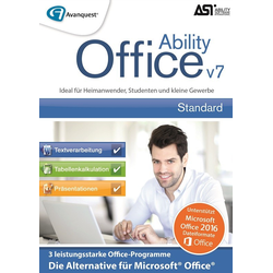AvanQuest Ability Office 7 - Die zuverlässige Office-Alternative, (CD+Key)