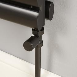 Heizkörper-Ventilset, Durchgang für 15mm Kupferrohre - Schwarz