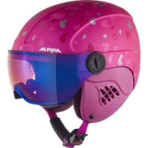 ALPINA CARAT LE VISOR Skihelm, Kinder, berry-hearts matt, 51-55