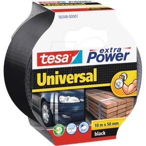 TESA 56348 SW - Folienband tesa extra Power® Universal, 10 m x 50 mm, schwarz