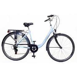 LeNoSa Cityrad AMIGO 28 Zoll Damen Fahrrad 6G Felgenbremse, Shimano blau