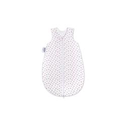 Julius Zoellner Schlafsack Jersey in weiß mit Herzchen in rosa und grau