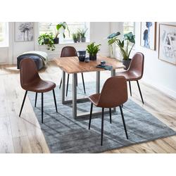 SAM® Essgruppe Miriam, 5tlg Essgruppe Miriam massiv mit 4 Schalenstühlen
