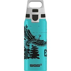 SIGG BRAVE EAGLE 0.6 L Trinkflasche ALU mit WMB ONE TOP  BPA frei  Auslaufsich