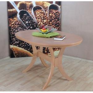 Auszugtisch Einlegplatte Buche natur massivholz oval Esstisch ausziehbar günstig