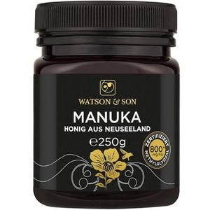 WatsonundSon Honig Manuka Honig MGO 800+, aus Neuseeland, 250g