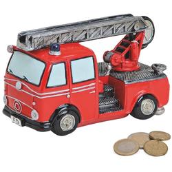 matches21 HOME & HOBBY Spardose Spardose Feuerwehr Auto mit Drehleiter Sparbüchse Poly