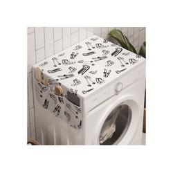 Abakuhaus Badorganizer Anti-Rutsch-Stoffabdeckung für Waschmaschine und Trockner, Wintersport Ski Schlitten Schlittschuhe