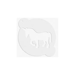 STÄDTER Backeinsatz DEKOR-SCHABLONEN Einhorn ca. ø 15 cm Weiß