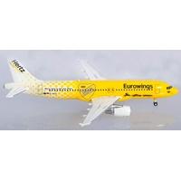 HERPA Eurowings Airbus A320 Hertz 100 Jahre in Miniatur zum Basteln Sammeln und als Geschenk