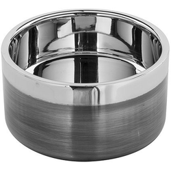 Fink Kerzenhalter VITO (1 Stück), aus Edelstahl, im modernen Design grau Ø 10 cm x 5 cm