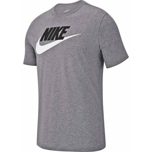 NIKE Sportswear T-Shirt dk grey heather/black/white XL