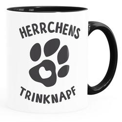 MoonWorks Tasse Kaffee-Tasse Spruch Herrchens Trinknapf Hundepfote-Motiv Becher Bürotasse Tasse Hunde-Liebhaber MoonWorks®