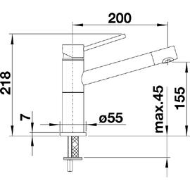 Blanco Alta Compact chrom 515120