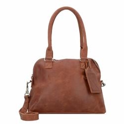 Cowboysbag Bag Carfin Schultertasche Leder 36 cm cognac
