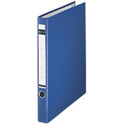 Leitz Ringbuch 2 Ringe Graupappe, laminiertes Papier DIN A4 Blau