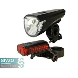 ecolle Fahrradbeleuchtung Fahrradlicht Set Akku STVZO zugelassen