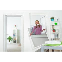 empasa Insektenschutz-Fenster FLEX, für flächenversetzte Fenster weiß 130 cm x 150 cm