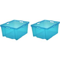 keeeper Aufbewahrungsbox franz (Set, 2 Stück) blau