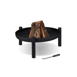 relaxdays Feuerschale Feuerschale 80 cm Durchmesser