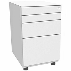 BISLEY OBA Standcontainer 80% Auszug, 2 Schubladen 10cm, 1 Schublade 15cm, 2 HR-Schubladen 56cm tief