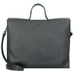 Bree Pure 13 Handtasche Leder 33 cm Laptopfach black