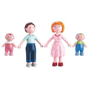 HABA Sparset Biegepuppen Little Friends Mama Katrin 302007, Papa Michel 30206 und Babys Marie,Max 302010 inkl. Geschenkverpackung