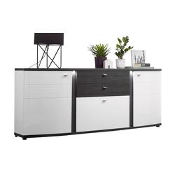 Wohn-Concept Sideboard Terrazzo in weiß/anthrazit
