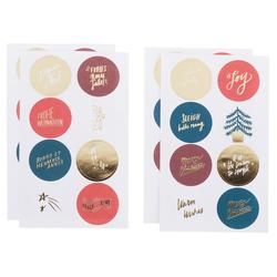 Rico-Design Verlag Sticker Jolly Christmas, 32 Stück