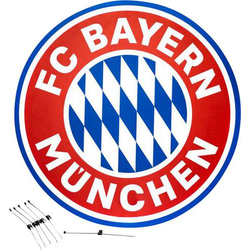 Sky Vision FC Bayern München SAT Antennen-Cover 68cm Rot, Weiß