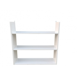 Regal Papierfolie E1 3 Ablagen Stärke 15cm weiß max. Belastbarkeit 6kg
