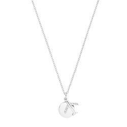 s.Oliver s.Oliver Halskette für Damen, Sterling Silber 925, Zirkonia Flugzeug