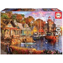 Educa Puzzle SONNENUNTERGANG IM HAFEN, 5000 Puzzleteile