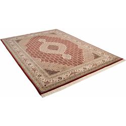 Orientteppich Mahi Tabriz, THEKO, rechteckig, Höhe 12 mm, von Hand geknüpft rot 140 cm x 200 cm x 12 mm