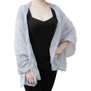 Tuch Schal Chiffon Stola Fashion Outfit Damen Tücher - grau