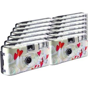 TopShot Flying Hearts Einwegkamera / Hochzeitskamera (27 Fotos, Blitz, 12-er Pack)