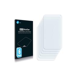 Savvies Schutzfolie für Tele2fon V1, (6 Stück), Folie Schutzfolie klar