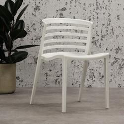 Norrie Gartenstuhl Modern Weiß