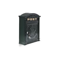relaxdays Briefkasten Briefkasten Antik 31 cm x 9.5 cm x 44.5 cm