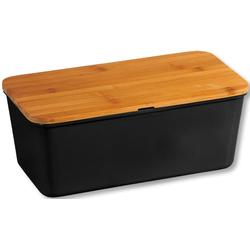 KESPER for kitchen & home Brotkasten, (1 tlg.), mit Deckel als Schneidbrett schwarz Aufbewahrung Küchenhelfer Haushaltswaren Lebensmittelaufbewahrungsbehälter