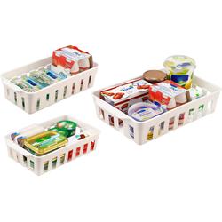 Ruco Aufbewahrungskorb, (Set, 6 St.), für den Kühlschrank, Kunststoff weiß Küchen-Ordnungshelfer Küchenhelfer Küche Aufbewahrungskorb
