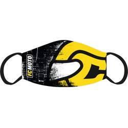 FC-Moto Gezichtsmasker, zwart-geel, Eén maat
