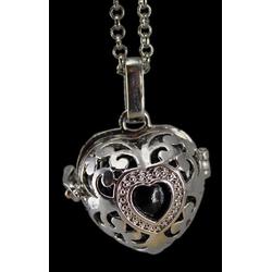 Amulett Engelrufer Herz 16 mm
