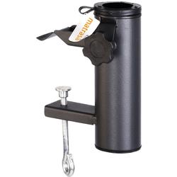 Schirmhalter für Balkon - Schirmständer für Balkongeländer Geländerhalterung Anthrazit