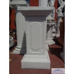 BAD-7221 Zaunpfeiler aus Beton für Torpfeiler Pfeiler mit Abdeckplatte als Säule für Zaun 78cm