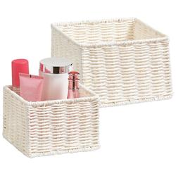 Zeller Present Aufbewahrungskorb Aufbewahrungskörbchen (Set, 2 Stück), Filzkorb, ideal fürs Bad, Wohnzimmer oder Büro