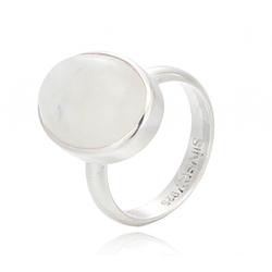 silvery Fingerring Ring Regenbogenmondstein Mondstein Silber 925 62