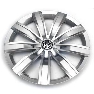 Volkswagen 5NA601147 YTI Radkappe (1 Stück) Radzierkappe 17 Zoll Blende silber chrom für VW Tiguan MQB (ab 2016)