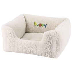 Nobby Komfort Bett eckig Puppy elfenbeinfarben